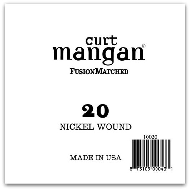 20 Nickel Wound Ball End Single String