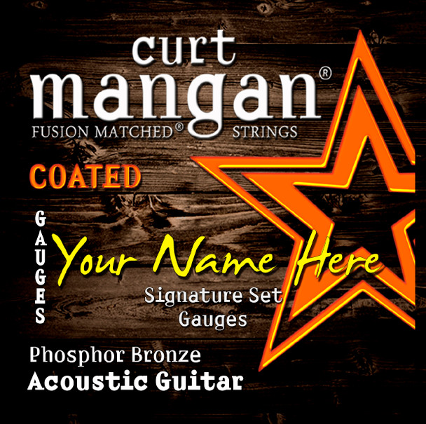 8 X COATED Phosphor with Wound 3rd Custom Guitar String Sets