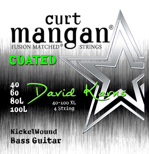 David Karns Coated 4 String Bass Set