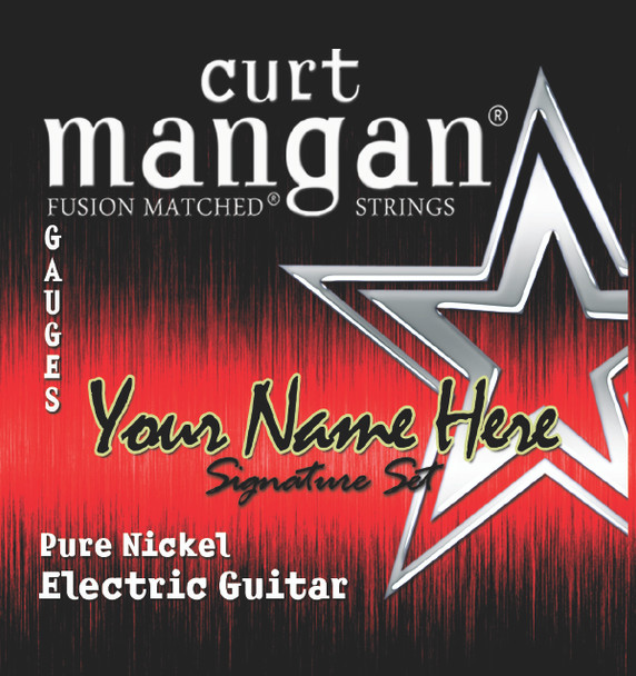 8 X Pure Nickel with Wound 3rd 6-String Custom Guitar String Sets