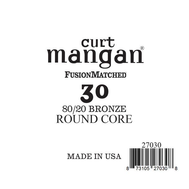 30 80/20 Bronze ROUND CORE Single String