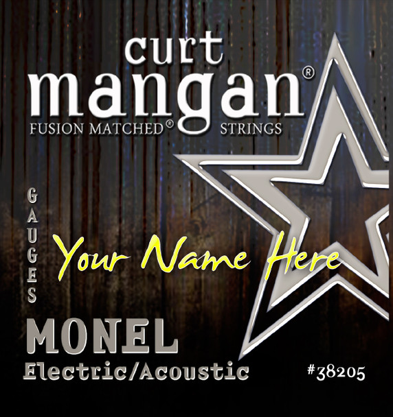 8 X MONEL HEX CORE Plain 3rd 6-STRING CUSTOM Guitar String Sets