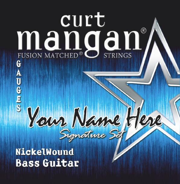 3 X Nickel Wound 4-String Custom BASS GUITAR String Sets