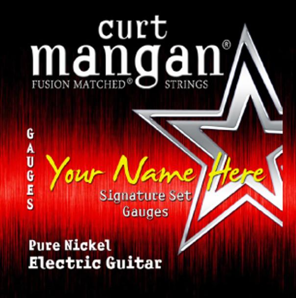 4 X Pure Nickel Custom Gauged Guitar String Sets