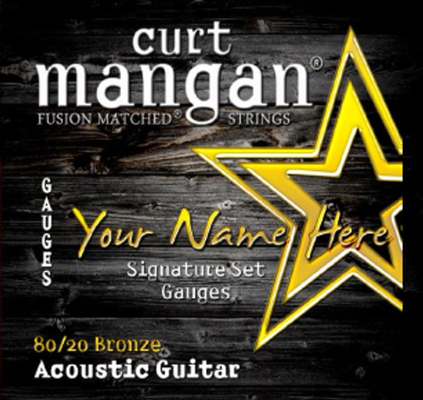 4 X 80/20 Bronze Custom Gauged Acoustic Guitar String Sets
