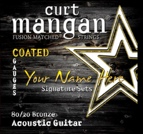 4 X COATED 80/20 Bronze Custom Gauged Acoustic Guitar String Sets