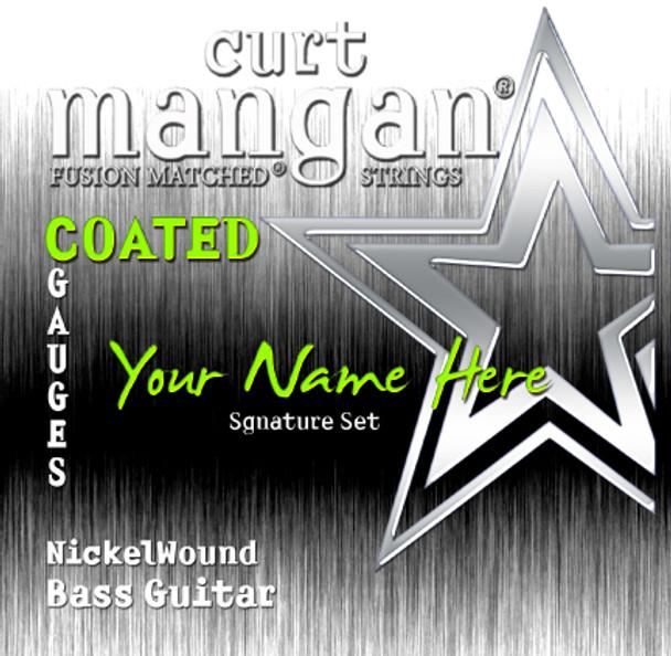 1 X COATED Nickel Wound Custom Gauged BASS Sets for 4-string. 5-string, 6-string, 7-string and 8-string Bass Guitars