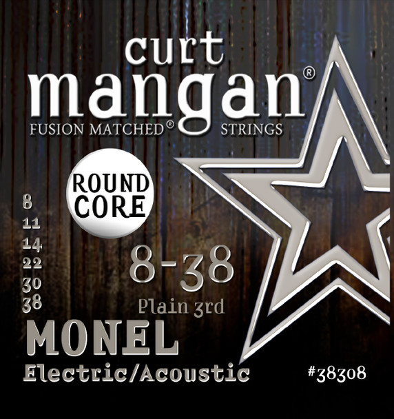 8-38 Monel Round Core Guitar String Set