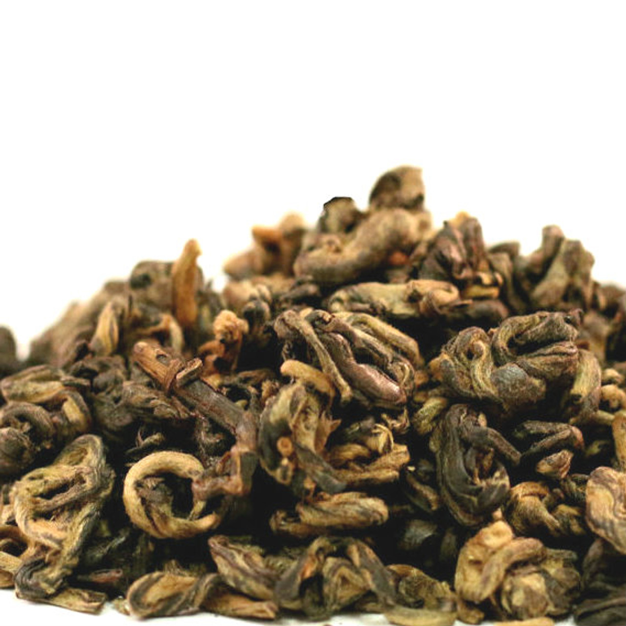 An excellent handrolled black tea from the province of Guangxi in the South of China. The rolled leaf resembles a snail and displays an a bundance of goldentips. Taste wise very unique with hints of cocoa and malt. Overall very mellow.