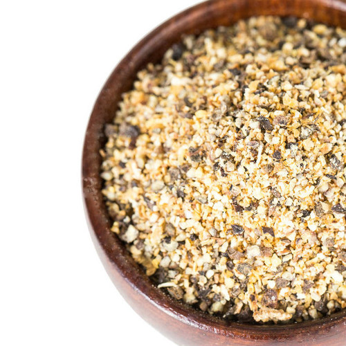 This lemon pepper blend is a delightful mix of zesty lemon peel and orange peel with other spices. It will add wonderful flavor to any meal. Our lemon pepper is very versatile and can be used as a spice rub for grilled meats or a zesty topping for pasta or salad.