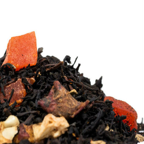 Southern Ginger Peach is one of our most popular flavor infused black teas. Premium full leaf black tea hand blended with peach pieces and ginger root combine to create this bold flavorful tea that is refreshing to drink. Southern Ginger Peach also makes an incredible iced tea! Steep: 1-1.5 tsp, Boiling Water, 3-5 Minutes