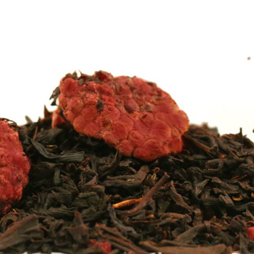 Our Raspberry Black is made from a blend of top grade black teas from China, India and Ceylon. We then add just the right amount of delicious raspberry to create this fantastic fruit tea that tastes great hot or iced. When brewed this tea produces a bright coppery color liquid with fresh raspberry flavor.