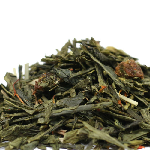 Peaches and Green combines pan-fired Chinese Sencha with refreshing citrus flavors from lemongrass and crisp, sweet peach notes. This makes an excellent hot and iced tea to be enjoyed year-round. Steep: 1-1.5 tsp, 185 degrees for 2-3 Minutes