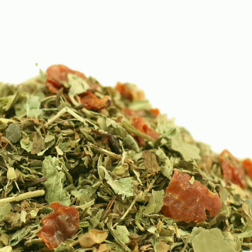 Detox herbal tisane is a blend of herbs, including linden blossoms, lemon myrtle and spearmint, that can help provide a gentle way for the body to cleanse itself. We simply love the taste as an everyday tea and find it to be a delicious way to feel naturally refreshed. Wonderful hot and iced. Steep: 2-3 tsp, Boiling Water, 5-7 Minutes