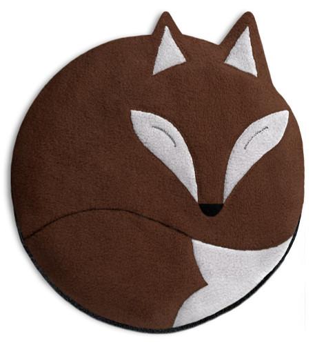 Luca the Fox Heatable Tummy & Body Warmer Pillow: Chocolate