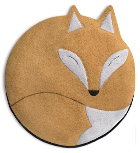 Luca the Fox Heatable Tummy & Body Warmer Pillow: Sand