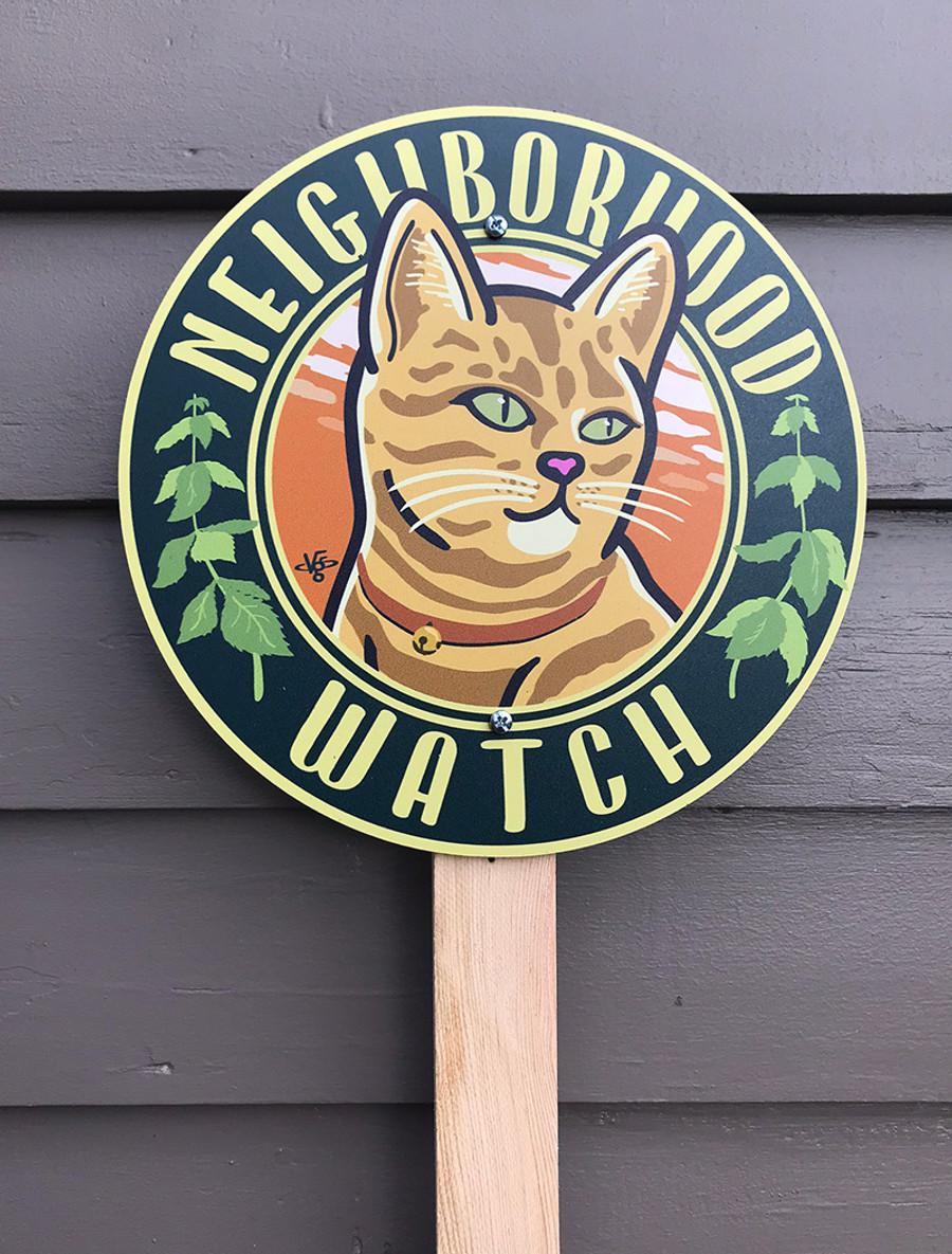Neighborhood Watch Garden Sign