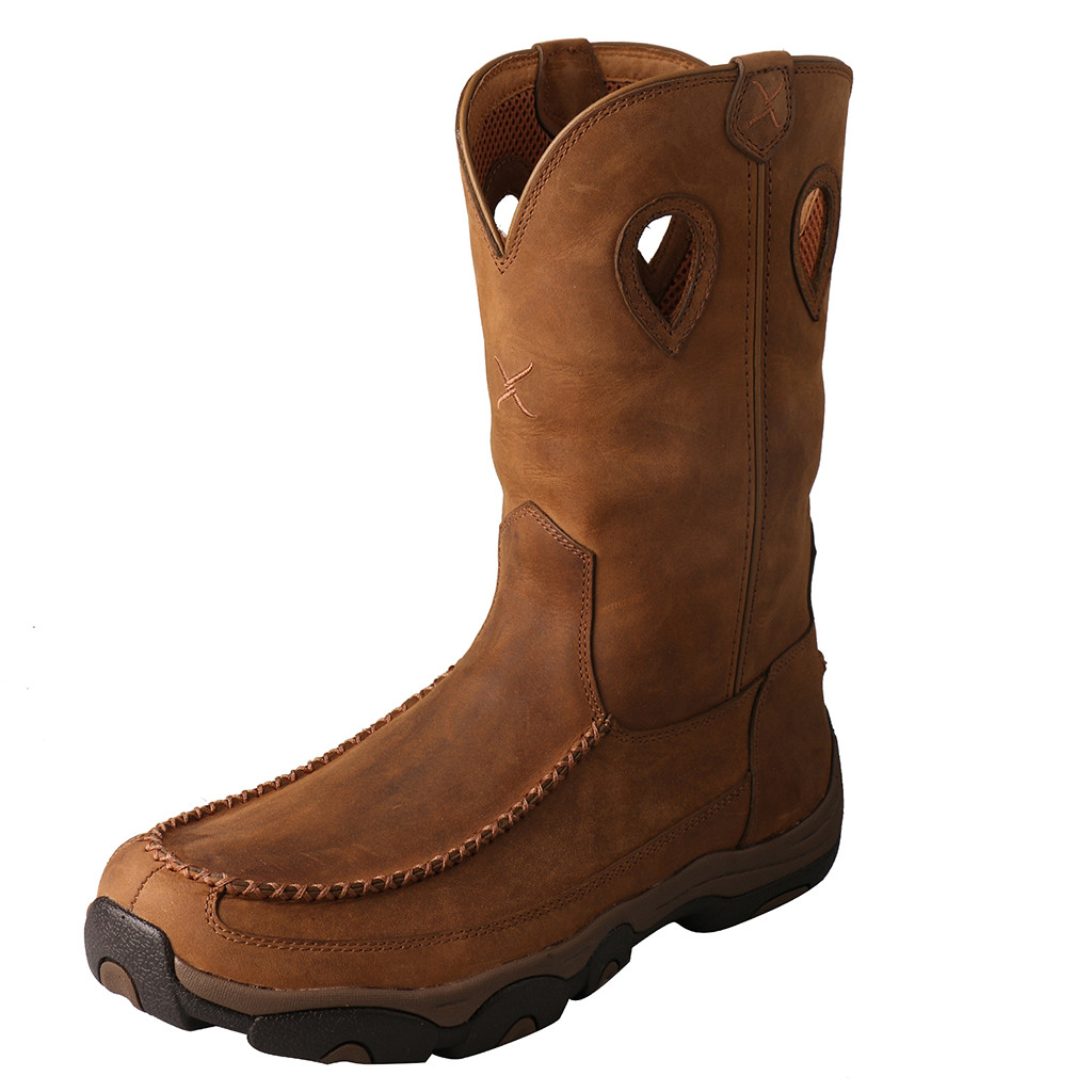 Men's Twisted X Boot, Comp Toe, Hiker, Brown with Moccasin Toe