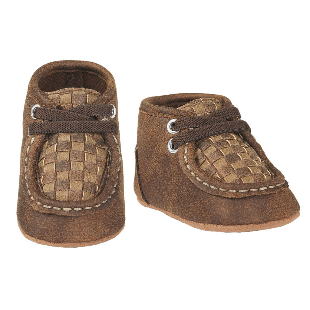Baby Bucker Boots, Carson, Quilted Brown