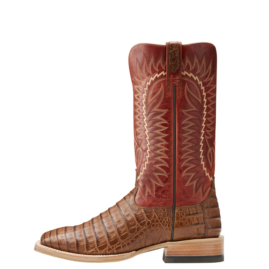 Men's Relentless Boot, Gold, Caramel Caiman Vamp, Amber Top