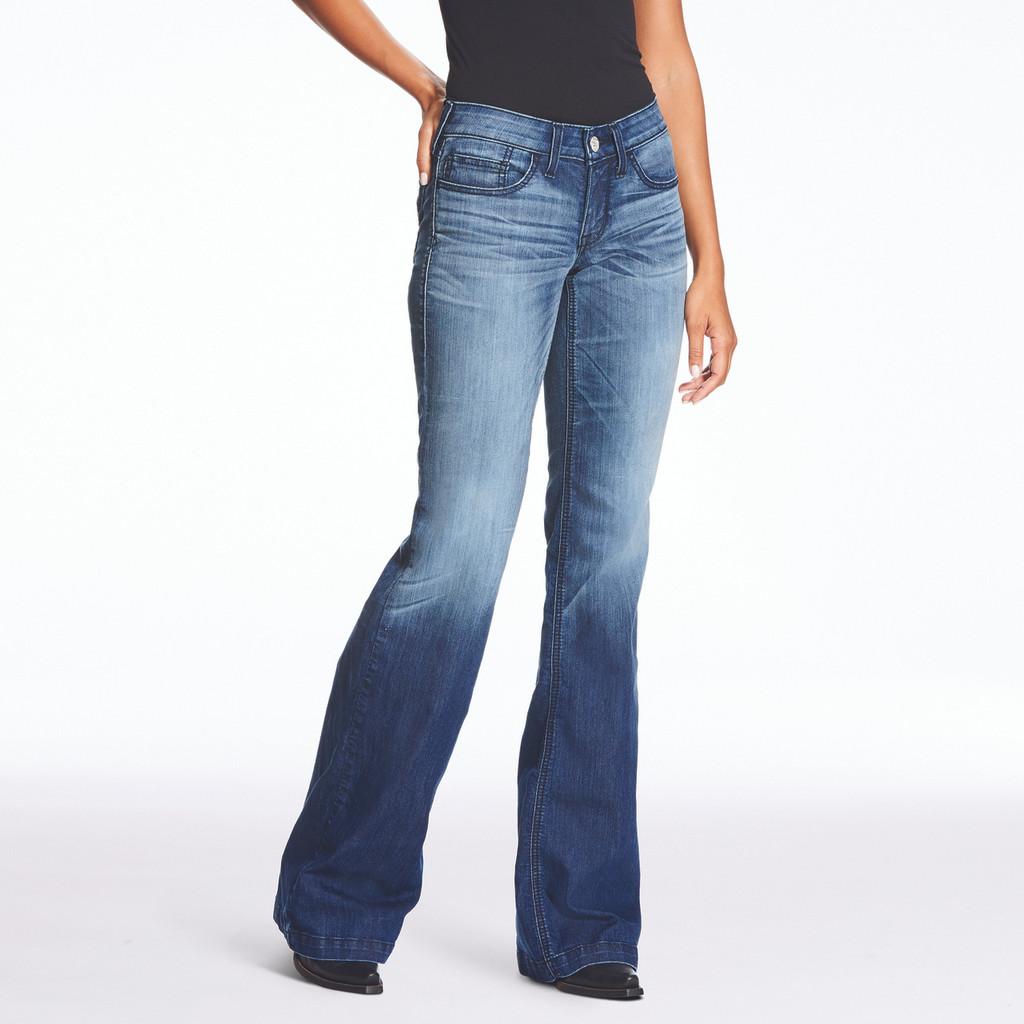 Women's Ariat Jeans, Trouser, Half Moon, Faded Wash
