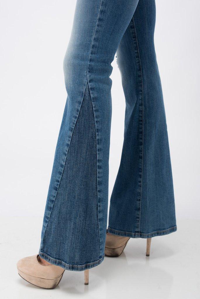 Women's Sneak Peek Jeans, Mid Rise, Flare Leg