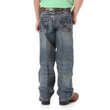 Boys Wrangler 20X Jeans No.33, Vintage Wash, Navy/Silver Pocket