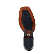 Men's Nocona Boot, Dark Brown Square Toe, Cognac Zulu