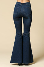 Women's By Together Jeans, Super Flared Bells, Dark Denim