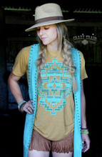 Women's Crazy Train Tee, The Monterrey, Mustard