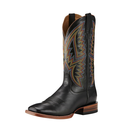 "Men's Ariat Boot, Midnight Black/Multi Color Stitching, 13"" Square Toe"