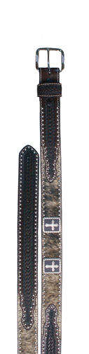 Kids WFA Ranger Belt, Cowhide, Brown, Cross Concho