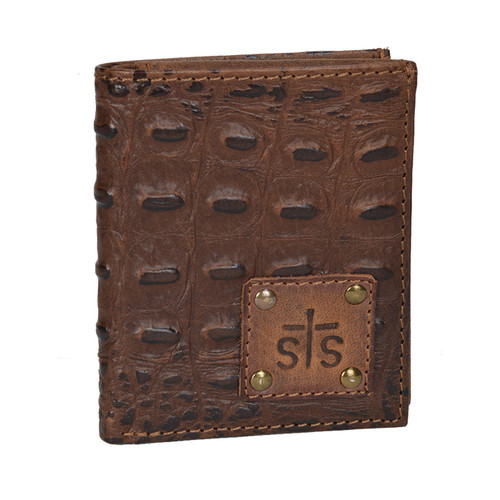 Men's STS Wallet, Distressed Brown Leather/Trifold, Foreman's