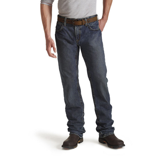 Men's Ariat Jeans, FR, M5 Slim Straight Shale
