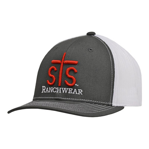Men's STS Cap, Charcoal and White, Trucker Style