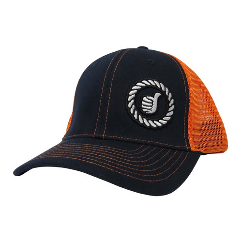 Men's Dally Up Cap, Navy/ Orange, Fitted