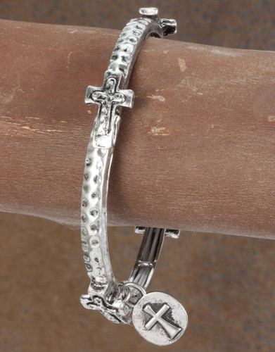 West & Co.Bracelet, Silver Crosses