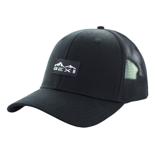 Men's Bex Cap, Indio, Black with White Logo