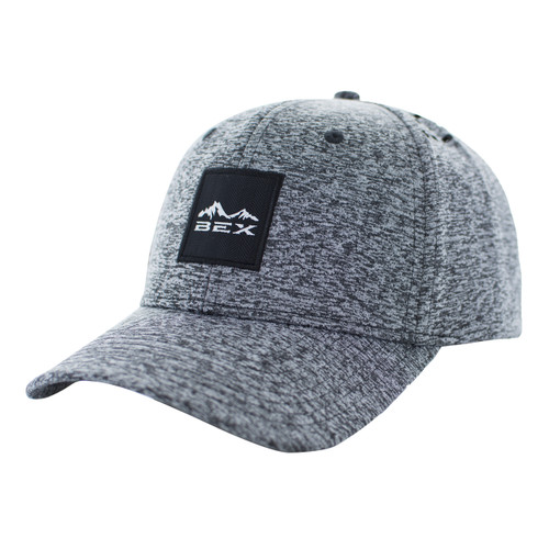 Men's Bex Cap, Hydra, Gray with Black Logo, Holes