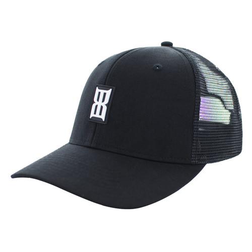 Women's Bex Cap, Adele, Black with White Logo