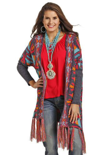 Women's Powder River Sweater, Aztec Multicolor
