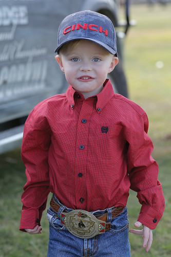 Toddler Cinch L/S, Red with Black Print