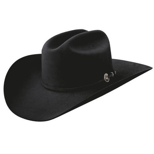 "Resistol Felt Hat, Logan, 6X Black, 4"" Brim"