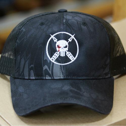 Chris Kyle Cap, Black Sniper Logo, Trucker Style