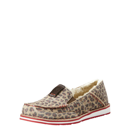 Women's Ariat Cruiser, Cheetah, Fleece Lined