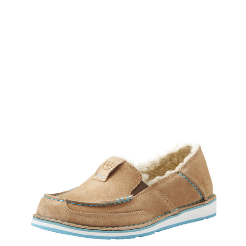 Women's Ariat Cruiser, Taupe, Fleece Lined