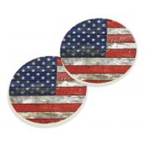 PGD Car Coaster Set, American Flag