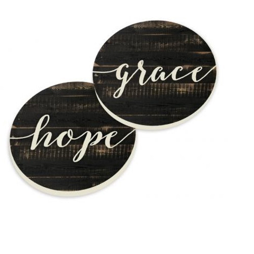 PGD Car Coaster Set, Grace and Hope