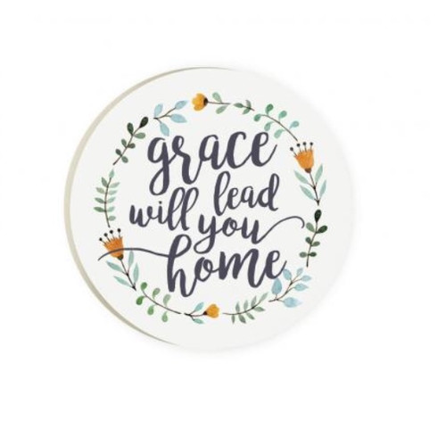 PGD Car Coaster Singles, Grace Will Lead You Home
