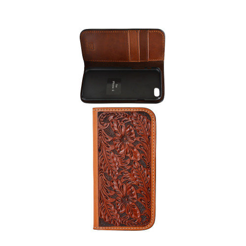 Men's Tony Lama iPhone 6 Case, Natural Floral Tooled
